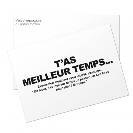 Carte postale T'as meilleur temps